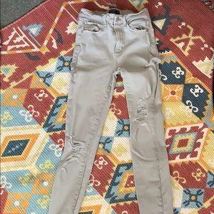 Abercrombie grey/light green jeans